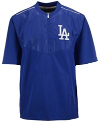 Majestic Men's Short Sleeve Los Angeles Dodgers Authentic Collection Training Jacket Royalblue