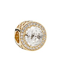 Pandora Design Pandora Charm 14K Gold And Cubic Zirconia Radiant Hearts Moments Collection