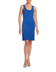 Michael Michael Kors Pleated Sleeveless Dress Royal Blue