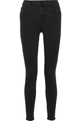 J Brand Carolina High Rise Skinny Jeans Black