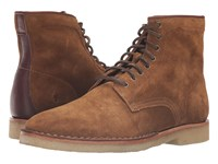 Frye Arden Lace Up Khaki Oiled Suede Men's Lace Up Boots