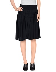European Culture Knee Length Skirts Black