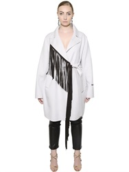 Marina Rinaldi Fringed Double Wool Coat