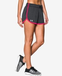Under Armour Ua Tech Shorts Carbon Heather Harmony Red