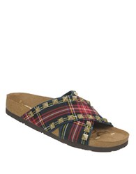 Sam Edelman Arina Printed Sandals Red Plaid