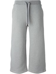 T By Alexander Wang Wide Leg Track Pants Grey