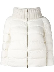 Herno Cropped Puffer Jacket White