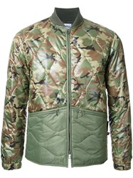 Bedwin And The Heartbreakers Camouflage Print Jacket Green