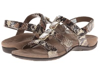 Vionic With Orthaheel Technology Amber Natural Snake Pu Women's Sandals Bronze