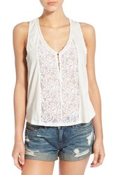 Women's Billabong 'Give Love' Lace Trim Racerback Tank