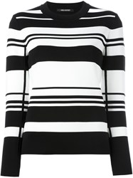 Neil Barrett Striped Jumper Black