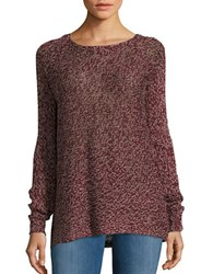 Design Lab Lord And Taylor Marled Knit Sweater Burgundy