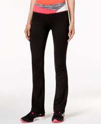 Material Girl Active Printed Waist Yoga Pants Only At Macy's Black
