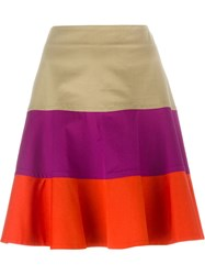 Etro Colour Block Skirt Nude And Neutrals