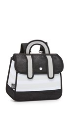 Jump From Paper Stripe Backpack Black