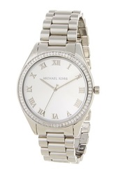 Michael Kors Women's Stainless Steel Crystal Roman Numeral Watch Metallic