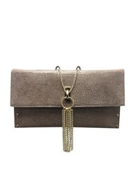 Sondra Roberts Nappa Leather Clutch Taupe