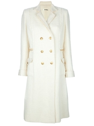 Chanel Vintage Double Breasted Coat White