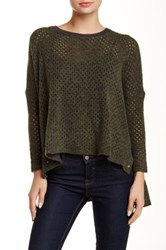 One Grey Day Ema Open Knit Wool Blend Sweater Multi