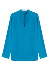 Etro Silk Tunic Blouse Blue