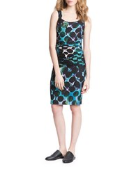 Tracy Reese Dotted Silk Blend Dress Green