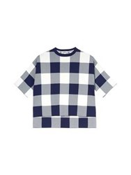 Whistles Gingham Boxy Top Navy White