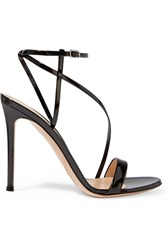Gianvito Rossi Patent Leather Sandals Black