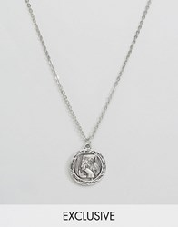 Reclaimed Vintage Eygptian Coin Pendant Necklace Silver
