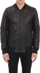 Helmut Lang Mesh Inset Leather Jacket Black