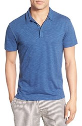 Men's Robert Barakett 'Chester' Slub Knit Polo Poseidon Blue