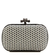 Bottega Veneta Knot Snakeskin Trimmed Printed Leather Box Clutch Multicoloured