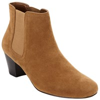 John Lewis Hope 2 Block Heeled Ankle Boots Tan
