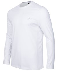 Greg Norman For Tasso Elba Long Sleeve Performance Shirt Only At Macy's Bright White