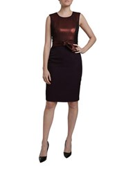 Carolina K Sleeveless Belted Dress Red