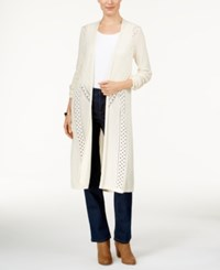 Styleandco. Style Co. Pointelle Knit Duster Cardigan Only At Macy's Warm Ivory