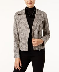 Inc International Concepts Snakeskin Print Faux Leather Moto Jacket Only At Macy's Snake Print