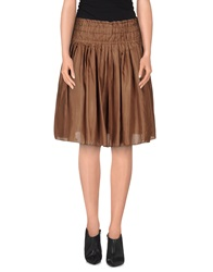 Fabrizio Lenzi Knee Length Skirts Cocoa