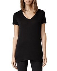 Allsaints Malin V Neck Tee Black