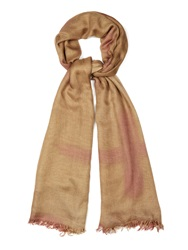 Suzusan Seeka Shibori Silk And Cashmere Blend Scarf