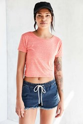 Corner Shop Baby Brother Cropped Tee Peach