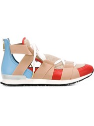 Vionnet Open Low Top Sneakers Yellow And Orange