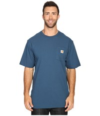 Carhartt Big Tall Workwear Pocket S S Tee Stream Blue Men's Short Sleeve Pullover