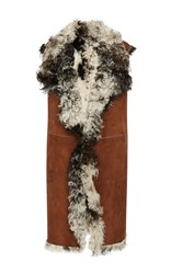 Hotel Particulier Shearling Vest Brown