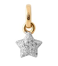 Links Of London Mini Pave Star Charm Female Yellow Gold