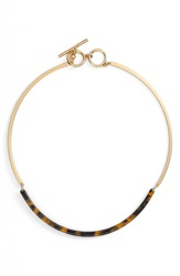 Lauren Ralph Lauren Faux Tortoiseshell Metal Necklace Brown