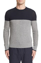 Rag And Bone Men's Camden Colorblock Cashmere Crewneck Sweater Navy