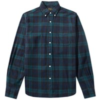Beams Plus Button Down Shaggy Tartan Shirt Multi