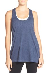 Women's Zella 'Sunset' Racerback Tank Navy Eclipse Heather