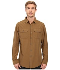 Kuhl Sting Long Sleeve Shirt Teak Men's Long Sleeve Button Up Brown