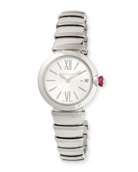 Bulgari 33Mm Lvcea Stainless Steel Watch Bvlgari